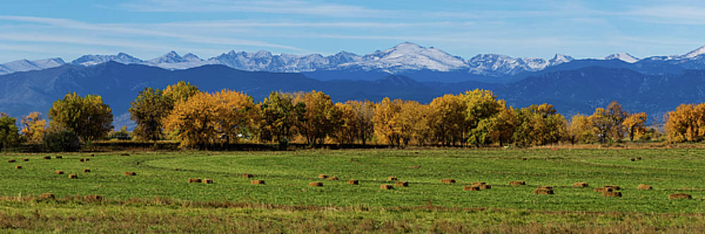 James BO Insogna - Colorado Rocky Mountain Autumn Hay Harvest Panorama