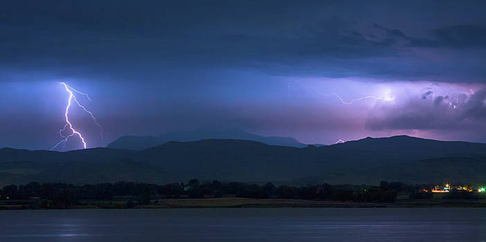 Colorado Rocky Mountain Foothills Storm Panorama by James BO Insogna