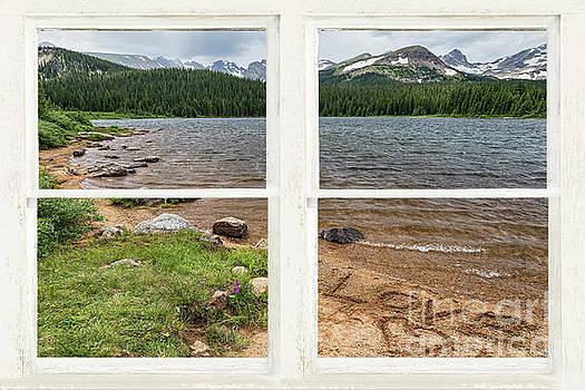 James BO Insogna - Colorado Rocky Mountain Lake Love White Washed Window View