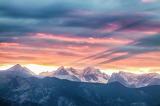 James BO Insogna - Colorado Rocky Mountain Sunset Waves Of Light Part 2