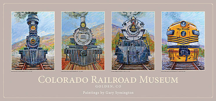 Colorado RR Museum Quadtych by Gary Symington