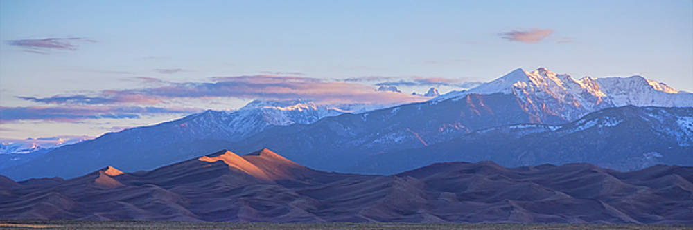 James BO Insogna - Colorado Sand Dunes First Light Sunrise Panorama