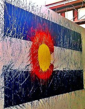 Colorado State Flag Abstract Mural by Jennifer Godshalk