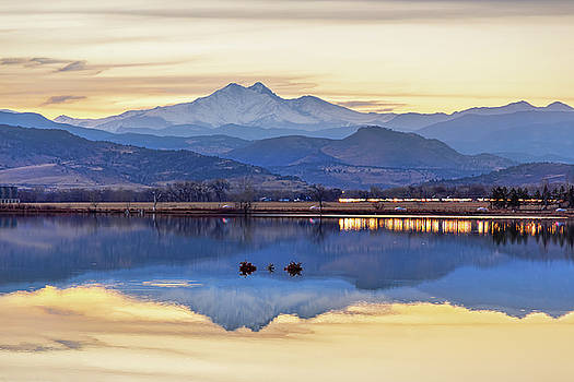 Colorado Twin Peaks Golden Reflections by James BO Insogna