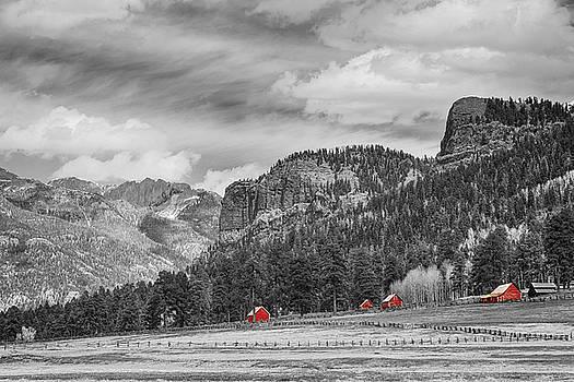 James BO Insogna - Colorado Western Landscape Red Barns