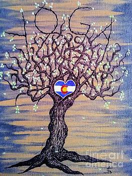 Colorado Yoga Love Tree by Aaron Bombalicki