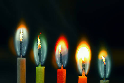 Colored candle by Baptiste De Izarra