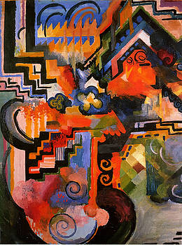 August Macke - Colored Composition