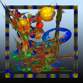 Colored dinosaur eggs. by Tautvydas Davainis