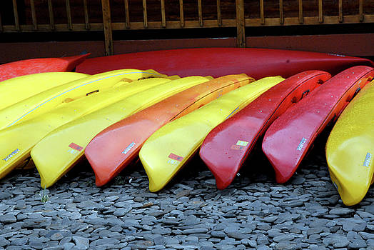 Colored Kayaks by Michelle Halsey