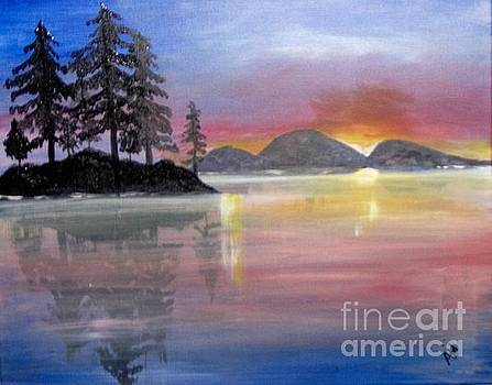 Colored Lake by Saundra Johnson