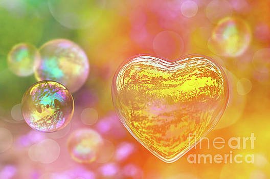 Delphimages Photo Creations - Colored Love bubble
