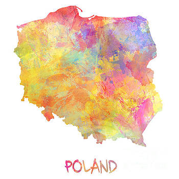 Justyna Jaszke JBJart - Colored map of Poland