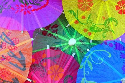 Colored Paper Umbrellas by Elly De vries