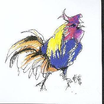 Colored Rooster by Paul Miller