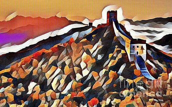 Colorful Abstract Great Wall by Pd