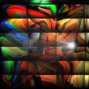 Colorful Abstract Sunburst by Teo Alfonso