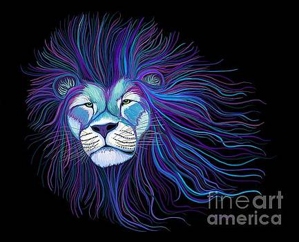 Colorful African Lion by Nick Gustafson