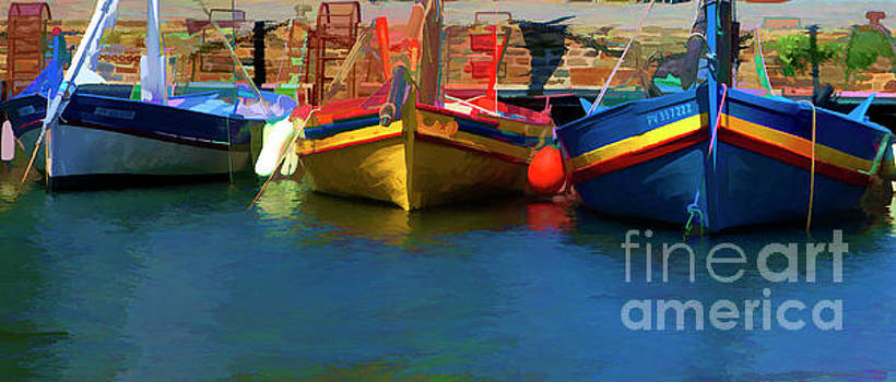 Chuck Kuhn - Colorful Boats 3 Collioure France