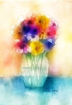 Colorful Bouquet I by Arline Wagner