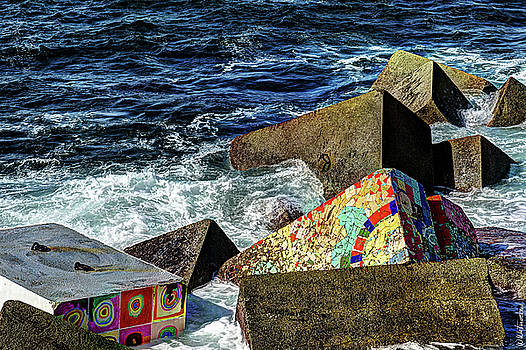 Weston Westmoreland - colorful breakwater blocks