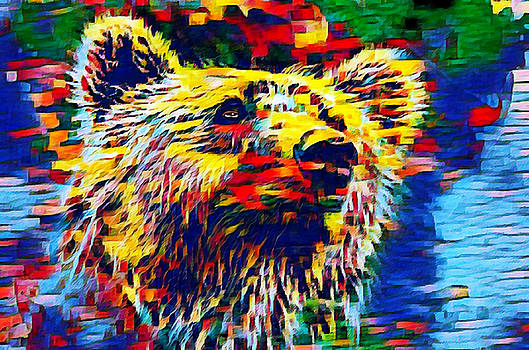 Colorful Brown Bear by Ayasha Loya