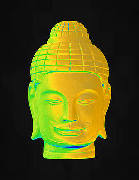 colorful Buddha Khmer 3 by Terrell Kaucher
