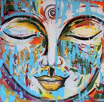 Colorful Buddha by Theresa Marie Johnson