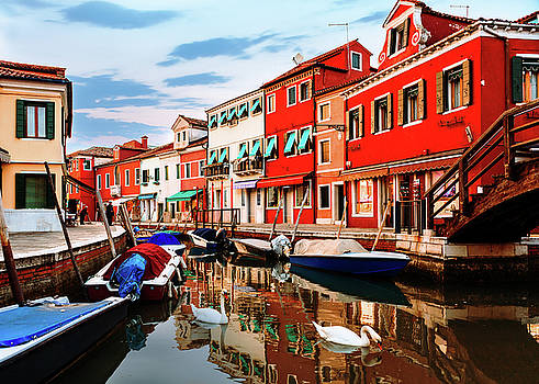 Colorful Burano Sicily Italy by Susan Schmitz
