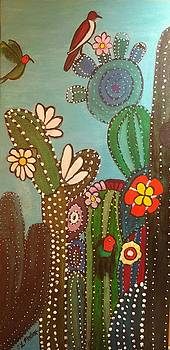 Colorful cactus by Tina Mostov
