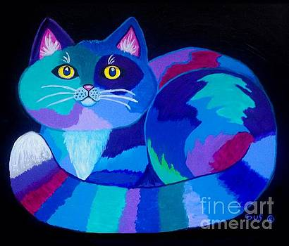Colorful Calico Cat by Nick Gustafson