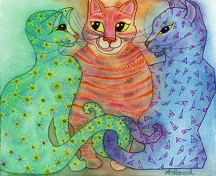Colorful Cats by Anne Havard
