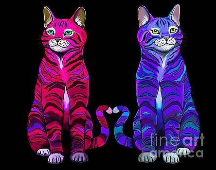 Nick Gustafson - Colorful Cats Together