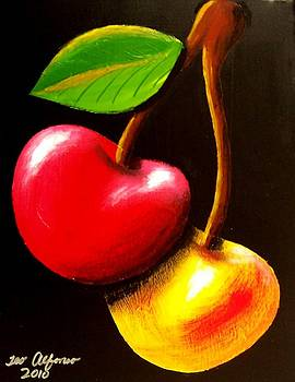 Colorful Cherries by Teo Alfonso