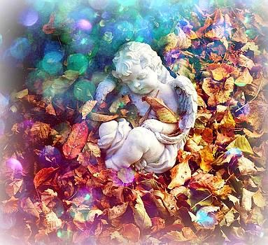 Colorful Cherub by Deborah Kunesh