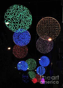 Colorful Christmas lights decoration display in Madrid, Spain. by Akshay Thaker 'PhotOvation'