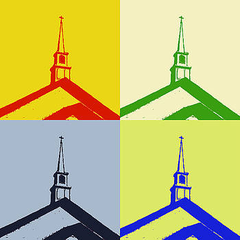 Colorful Church Collage by Joey OConnor