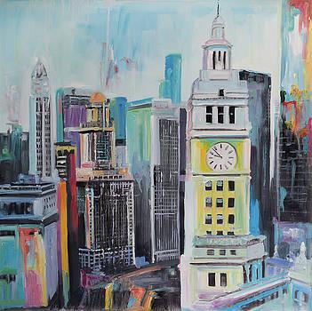 Colorful Cityscape of Manhattan by Atelier B Art Studio