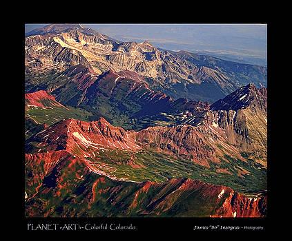 James BO  Insogna - Colorful Colorado Rocky Mountains Planet Art Poster