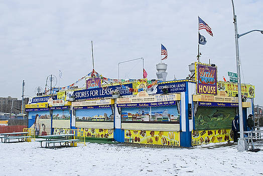 Colorful Coney Island Stand by Andrew Kazmierski