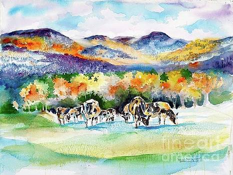 Kathleen Berry Bergeron - Colorful Cows