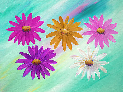 Colorful Daisies by Elizabeth Lock