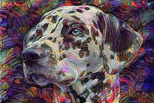 Peggy Collins - Colorful Dalmatian Dog Portrait