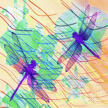 Colorful Dragonflies by Victoria Kir