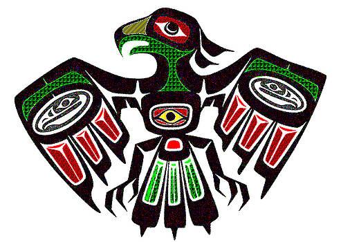 Colorful Eagle Symbol by Ayasha Loya