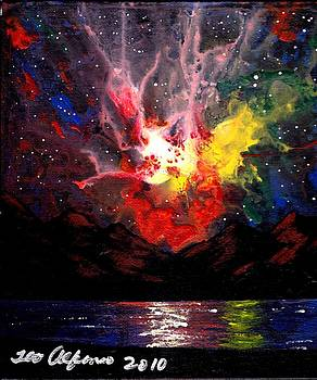 Colorful Explosion Sky Art 7B by Teo Alfonso