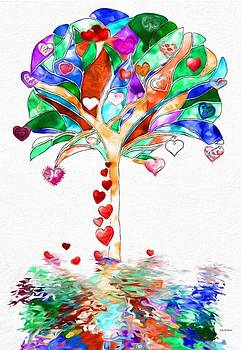 Colorful Fantasy Tree  by Gabriella Weninger - David