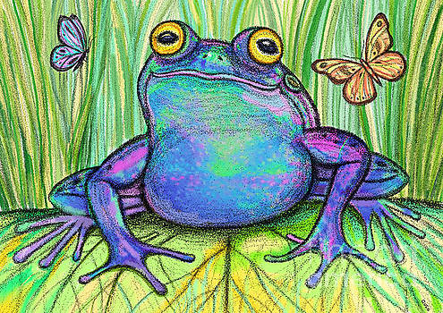 Nick Gustafson - Colorful Frog and Butterflies