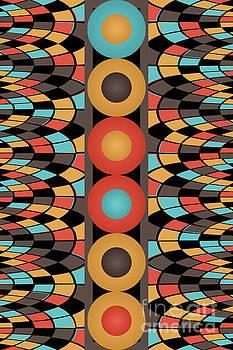 Colorful geometric composition by Gaspar Avila