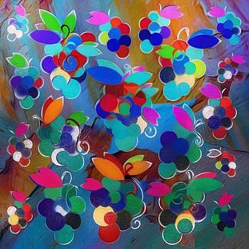 Colorful Grapes Abstract by Gabriella Weninger - David